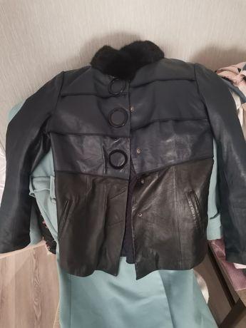 Куртка кожаная модельная