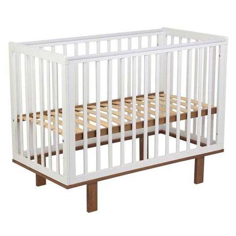 """Кроватка детская Polini """"340"""", (белый- натуральный)"""