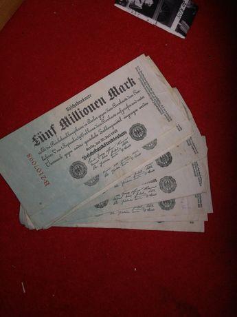 Bacnote de 5 000 000 mark din 1923
