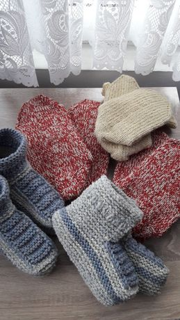 Детски, дамски и мъжки плетени вълнени чорапи/терлици