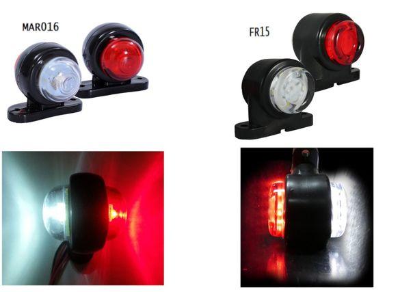 Малки LED Светлини Рогчета Токоси За Камиони,Ремаркета,Влекачи 12V 24V