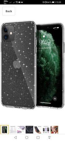 Husă silicon +folie protecție iphone 11 pro max