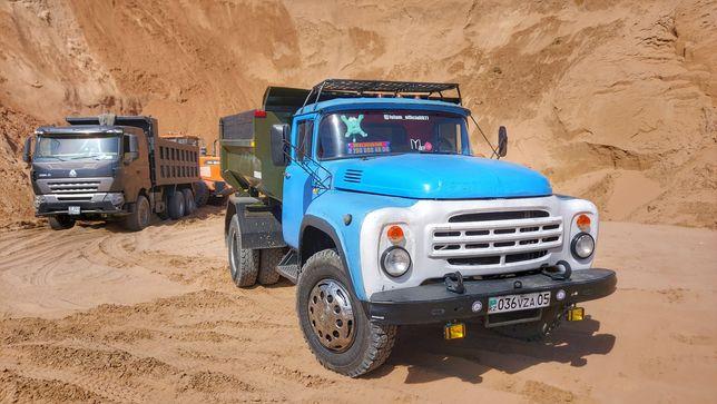 Доставка сыпучих грузов зил песок щебень отсев вывоз мусора  7 тонн