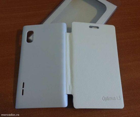 Husa ALBA Toc Flip Cover LG Optimus L5 E610 / E612 + Folie