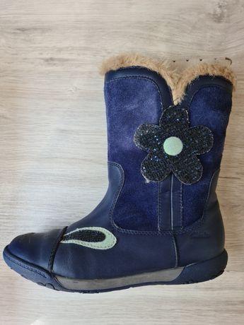 Кожаные сапожки Clarks для девочек