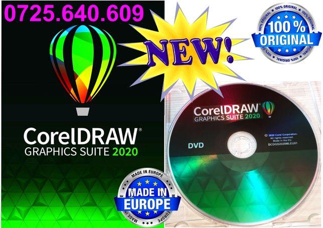 CorelDRAW 2020 - DVD SIGILAT - 1 Licenta Permanenta - Made in E.U