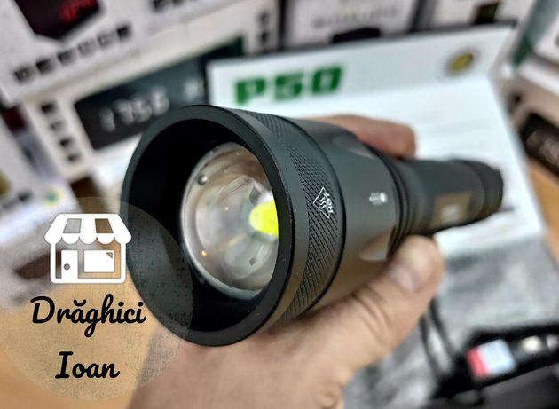 NEW CREE P50-WC! Lanterna profesionala, 100%metal, noul model CREE P50
