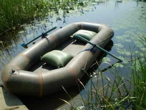 Надувная двухместная лодка