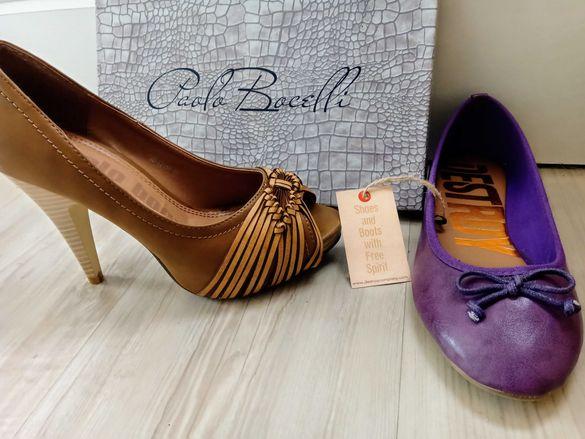 Пантофки и обувки на ток 38 размер