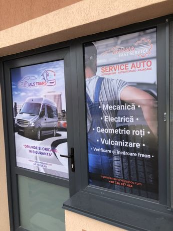 Inscriptionare auto vitrine geamuri materiale publicitare