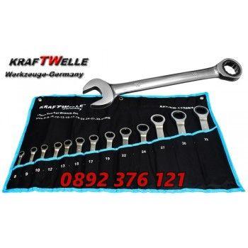 Звездогаечни тресчотни ключове KRAFTWELLE от 8мм до 22мм