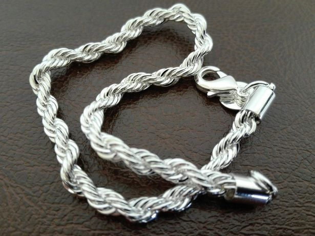 Brățară argint 925, unisex, 21 cm lungime