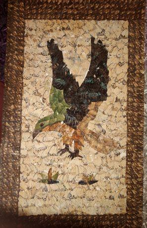 Картина, из крыльев бабочек