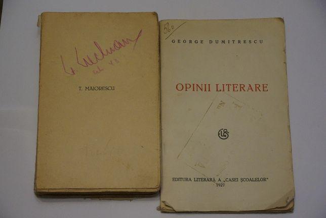 Carti vechi : Opinii Literale 1927 si T. Maiorescu de Lovinescu 1940