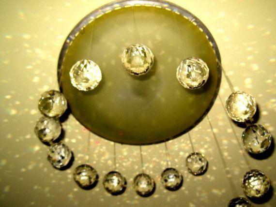 Кристални топки - капки с отвори за увисване - 10 лв. за 1 брой