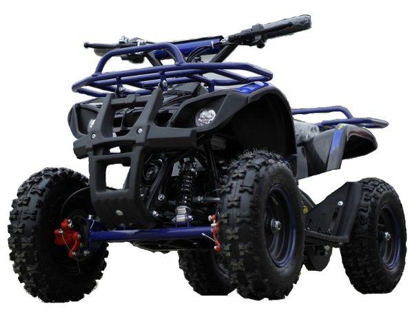 Mini ATV electric NITRO Torino Deluxe Quad 800W 36V #Albastru