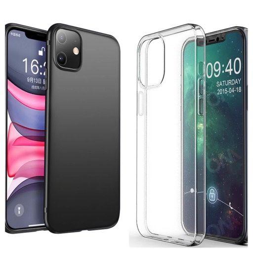 Iphone 11 12 MINI / PRO / MAX - Husa Silicon Ultra Slim Neagra / Clara Bucuresti - imagine 1