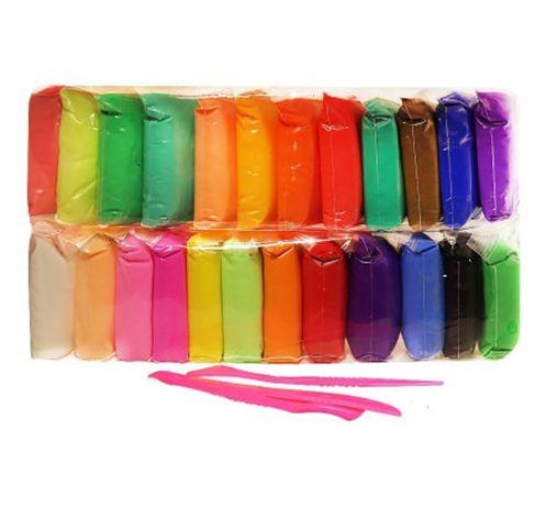 Легкий воздушный пластилин LIZUN TOYS Наборы 24 цветов + инструмент!