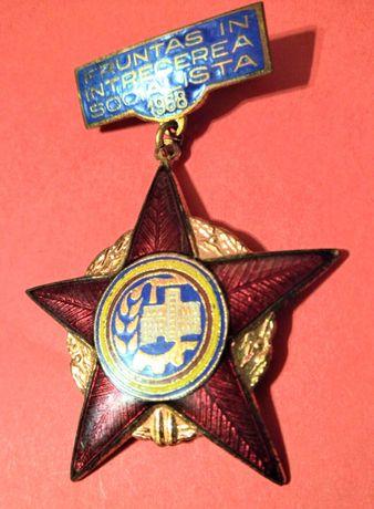 Decoratie Fruntaș in Întrecerea Socialistă 1968