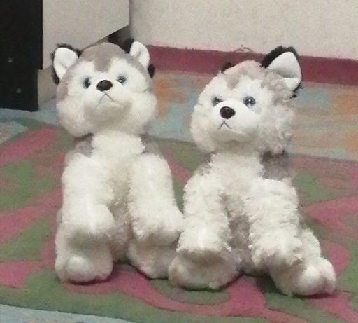 Мягкие игрушки щенки хаский