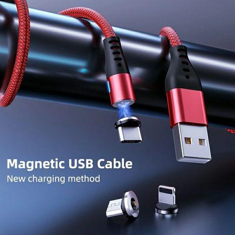 Продаётся новые в упаковке Магнитный кабель с разъёмом Micro USB.