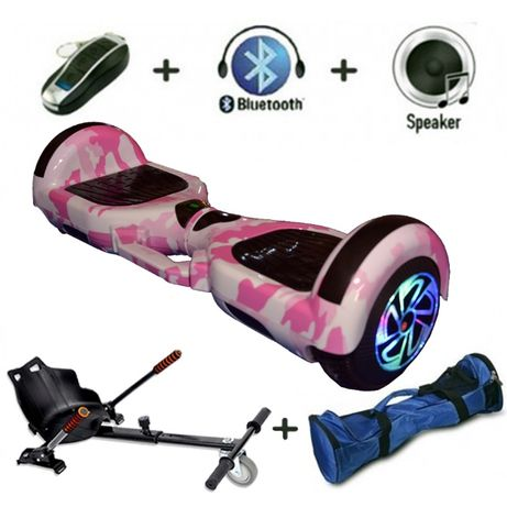 Hoverboard roz cu Hovercart