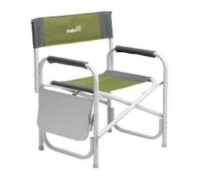 Кресло Helios директорское с откидным столом, серо-зелёное