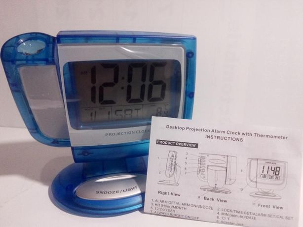 Ceas digital LCD 3 inch cu proiector