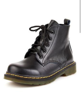 Ботинки кожаные  мартинсы