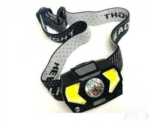 челник за глава със сензор за движение фенер