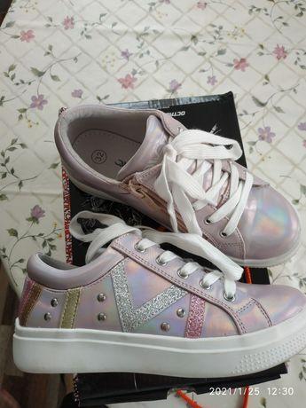 Кожаные ботиночки для девочки Flamingo