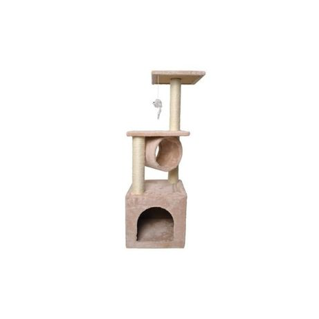 Ansamblu De Joaca Din Sisal Pentru Pisici, Inaltime 90 Cm, Maro