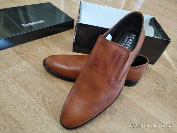 Луксозни Обувки TENDENZ / Естествена Кожа / 44
