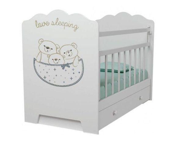 Кроватка маятник с ящиком вдк кровать для новорожденного манеж Алматы