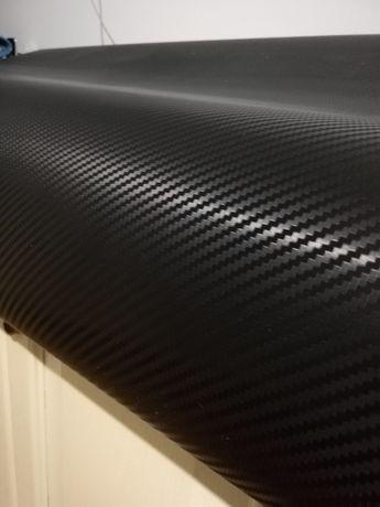 Folie carbon 3D neagra - 1m x 1,52