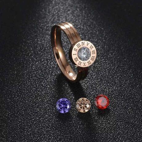 Кольца позолоченные со сменными камнями