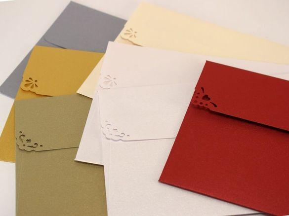 Луксозни пликове за покани и картички - перлени пликове за сватба