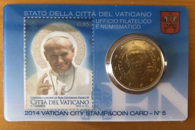 Moneda Vatican 50 eurocenti 2014