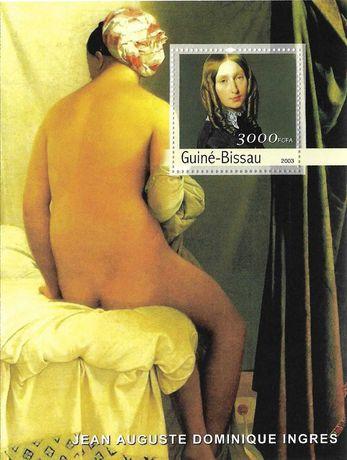 Super timbre colita nestampilata arta pictura Odalisque, Ingres