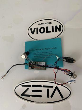 Vioara Zeta -placa originala cu cablaj inclus !