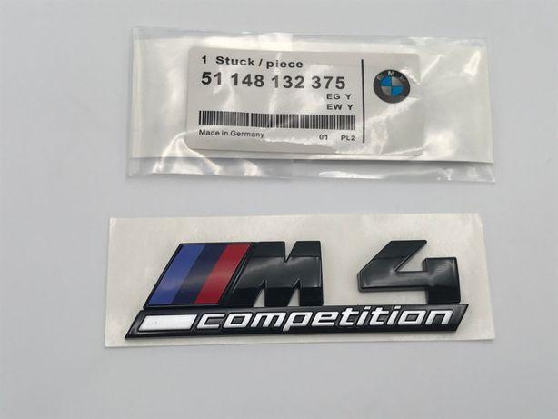 Emblema BMW M4 COMPETITION spate negru