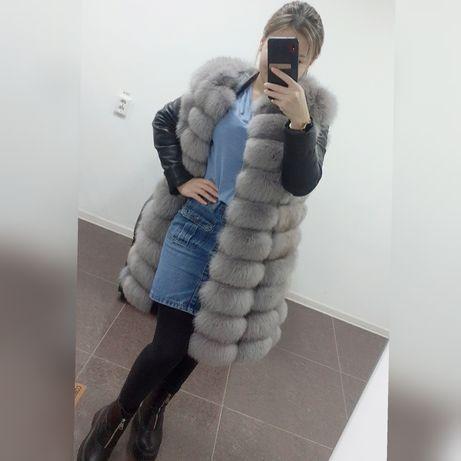 Песец, натуральный мех, жилетка 25000