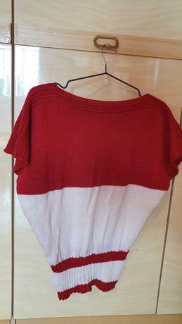 bluza /vesta  alb cu rosu