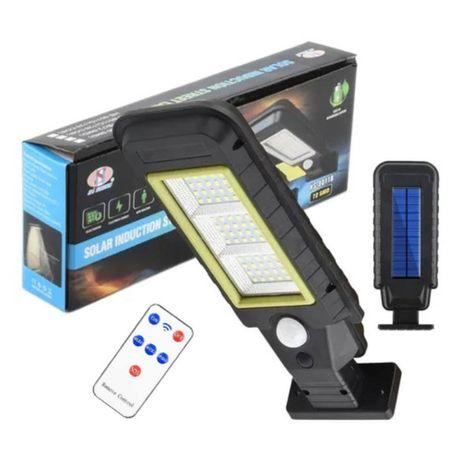 Lampa solara stradala 60 LED cu Panou solar + telecomanda