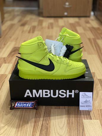 Nike dunk high x ambush flash lime