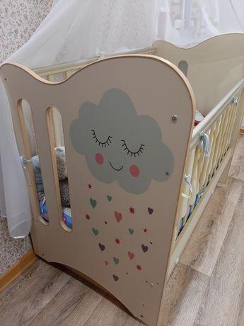Детская кроватка с ящиком