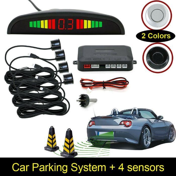 Ултразвуков парктроник с LED дисплей с ЧЕРНИ или СИВИ сензори