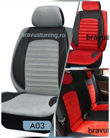 Huse scaun auto Elitte material tip Alcantara Gri
