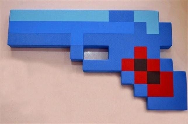 Jucarie pistol, arma albastra plus/burete minecraft copii / cadou crac