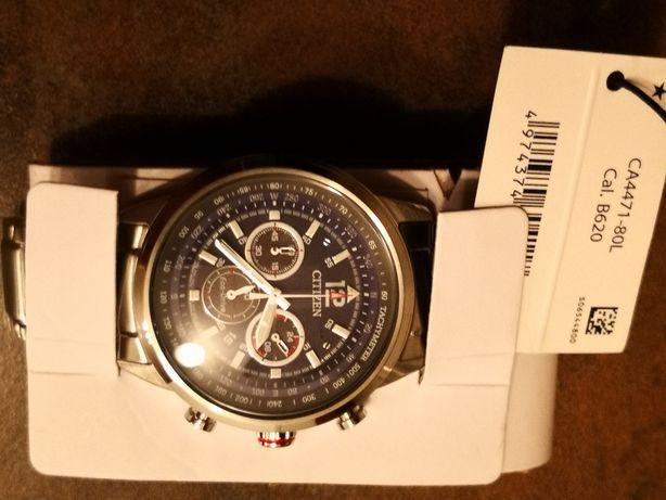 CITIZEN CA4471-80L Ceas bărbătesc cu baterie solară, cronograf și dată